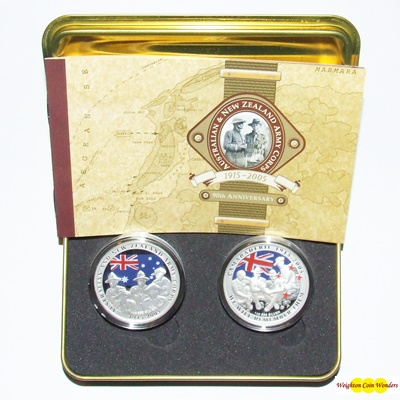 2005 Silver Proof 2-Coin Set - 90th Anniversary - Army Corps